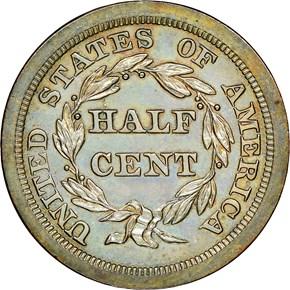 1846 ORIGINAL 1/2C PF reverse