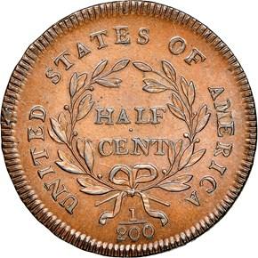 1795 LETTER EDGE 1/2C MS reverse