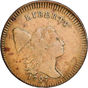1797 P.EDGE LOW HEAD C-3a 1/2C MS obverse