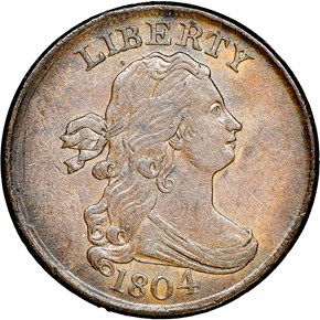 1804 1/2C MS obverse