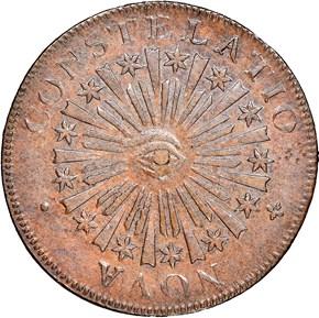 1785 BLUNT RAYS NOVA CONSTELATIO MS obverse