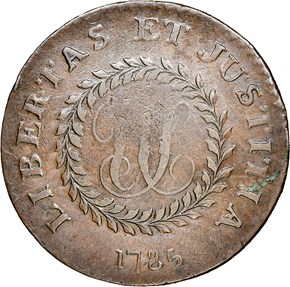 1785 SM DATE POINT RAYS NOVA CONSTELLATIO MS reverse