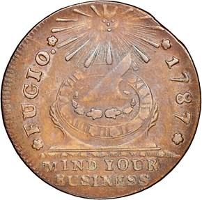 1787 R.ENDS C.R. FUGIO 'UNITED STATES' 1C MS obverse
