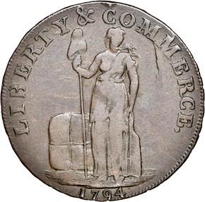 1794 L.E. NO 'NEW YORK' TALBOT ALLUM & LEE 1C MS obverse