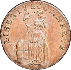 1795 PLAIN EDGE TALBOT ALLUM & LEE 1C MS obverse
