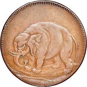 c.1694 DIAG ELEPHANT GOD PRESERVE LONDON TOKEN MS obverse