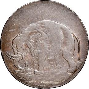 c.1694 ELEPHANT LON DON TOKEN MS obverse