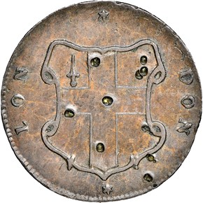 c.1694 ELEPHANT LON DON TOKEN MS reverse