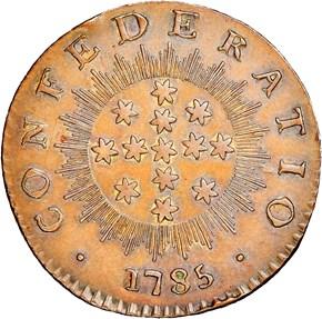 c.1863 BOLEN JAB-7 CONFEDERATIO FACSIMILE CU MS reverse