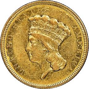 1854 O $3 MS obverse