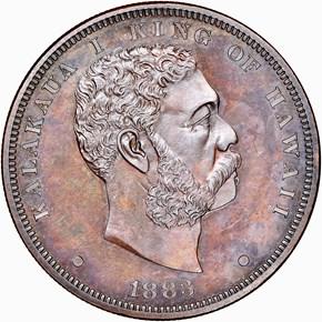 1883 HAWAII M-CPC4 COPPER S$1 obverse