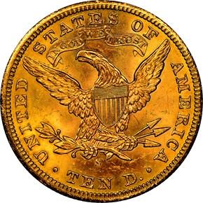 1902 S $10 MS reverse