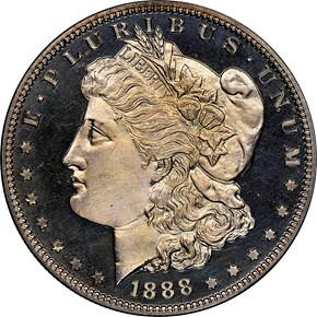 1881 $1 PF obverse