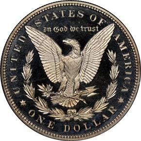 1881 $1 PF reverse