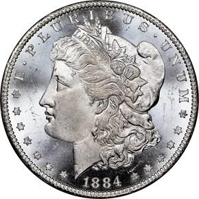 1884 CC $1 MS obverse