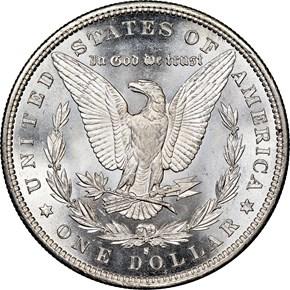 1880 S $1 MS reverse