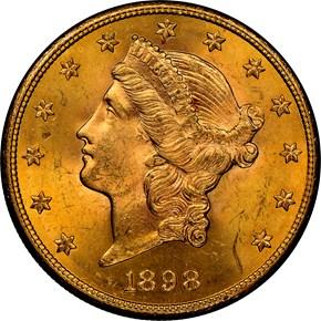 1898 S $20 MS obverse