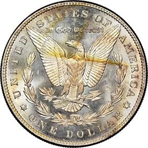 1887/6 TOP-100 VAM-2 $1 MS reverse