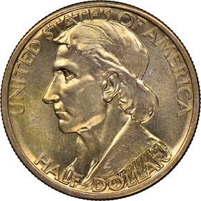 1937 S BOONE 50C MS obverse