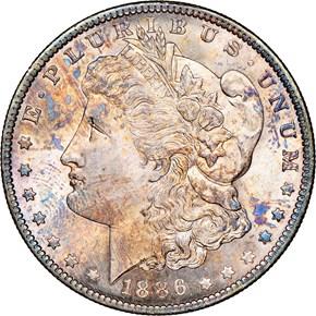1886 O $1 MS obverse