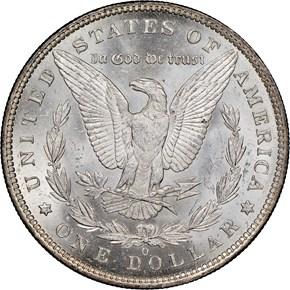 1886 O $1 MS reverse