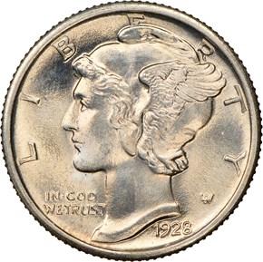 1928 10C MS obverse
