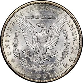 1901 $1 MS reverse