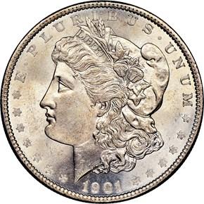 1901 $1 MS obverse