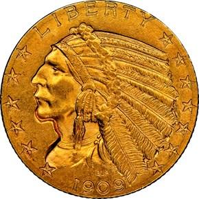 1909 $5 MS obverse