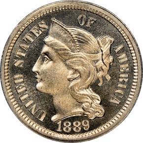 1889 3CN PF obverse