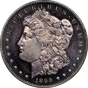 1895 $1 PF obverse