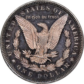 1895 $1 PF reverse