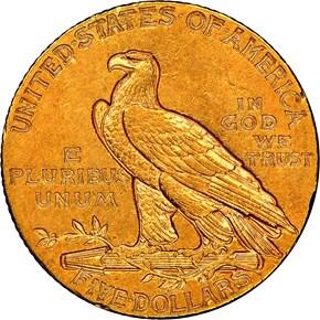 1909 O $5 MS reverse