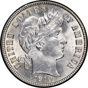1910 D 10C MS obverse