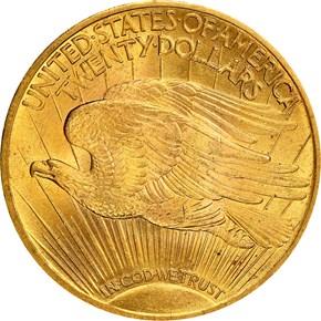 1913 $20 MS reverse