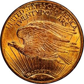 1909 $20 MS reverse