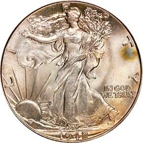 1942 50C MS obverse