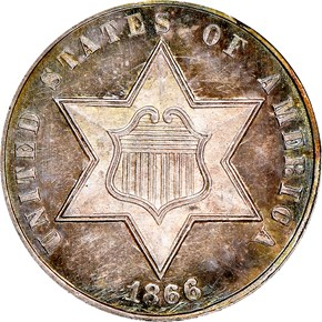 1866 3CS MS obverse