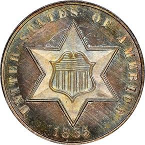 1853 3CS MS obverse