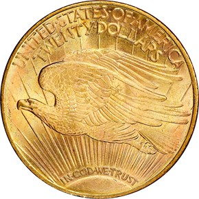 1911 S $20 MS reverse