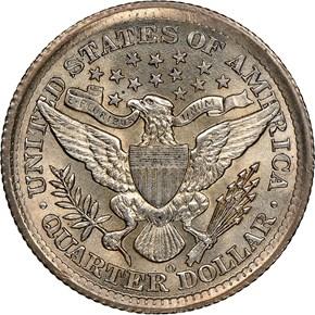 1896 O 25C MS reverse