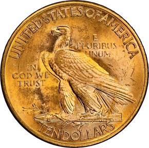 1926 $10 MS reverse