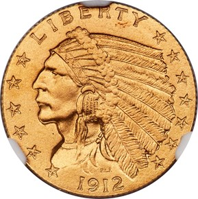 1912 $2.5 PF obverse