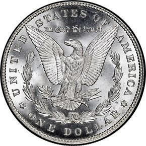 1884 $1 MS reverse