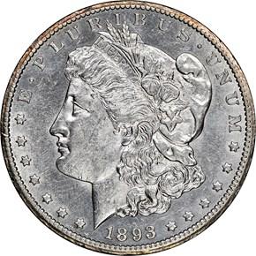 1893 CC $1 MS obverse