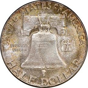 1958 50C MS reverse