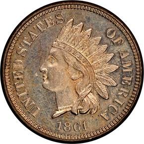 1861 1C PF obverse