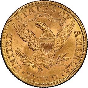 1906 D $5 MS reverse