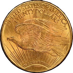 1925 $20 MS reverse