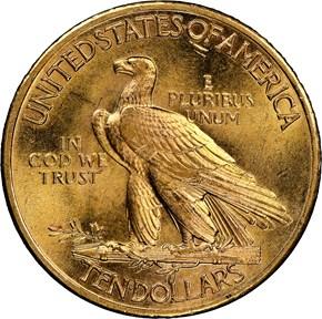1932 $10 MS reverse